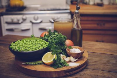 Chilled Parsley and Green Pea Soup