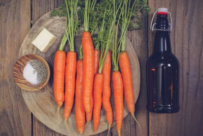 Beer Braised Carrots