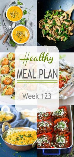 Healthy Meal Plan {Week 123}
