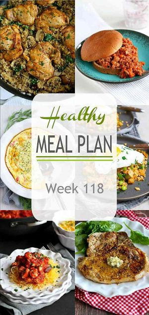 Healthy Meal Plan {Week 118}