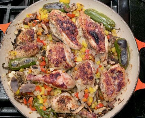 Edna Lewis's Southwestern Chicken with Hominy