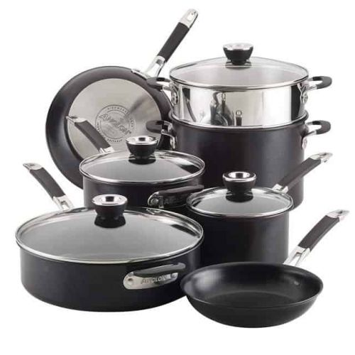 Anolon Smart Stack Hard Anodized Nonstick Cookware Set Review & Giveaway