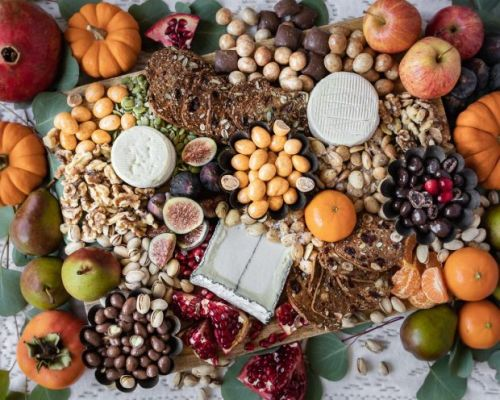 A Festive Chocolate and Cheese Board