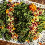 Roasted Broccolini with Herb Tahini Sauce