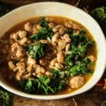 Chicken Sausage, Pumpkin, White Bean and Kale Soup