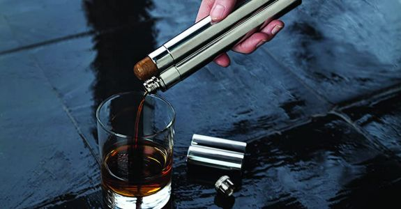 This Flask Also Holds Your Favorite Cigar