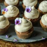 Zucchini Cupcakes with Vanilla Frosting - Vegan and Gluten-Free
