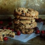 Chewy Chocolate Caramel Cranberry Cookies