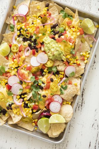 Vegetarian Sheet Pan Nachos