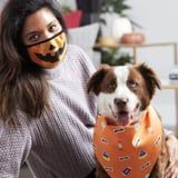 These Spooky Face Mask and Bandana Sets Allow You to Match Your Dog This Halloween