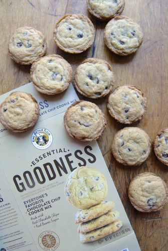 New twist on an old favorite: Muffin pan chocolate chip cookies
