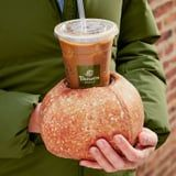 Behold: Panera Bread's New Iced-Coffee Glove Looks Exactly Like a Crispy Bread Bowl