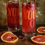 Blood Orange Pomegranate Whiskey Sours