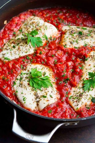 Poached Fish in Easy Tomato Sauce