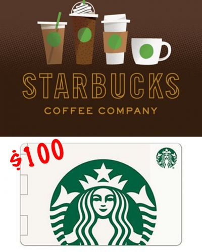 $100 Starbucks Gift Card Giveway
