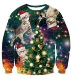 You Can Score Some Hideous - and I Mean Hideous - Ugly Christmas Cat Sweaters on Amazon