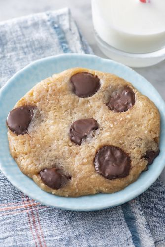 Microwave Chocolate Chip Sea Salt Cookie for ONE