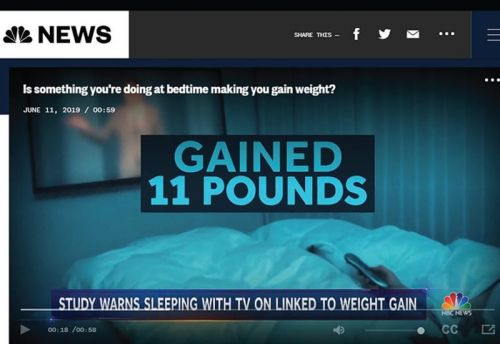 Is sleeping with the TV on making you gain weight?