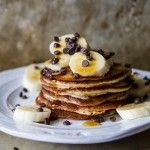 Banana Chocolate Chip Pancakes, gluten free and vegan