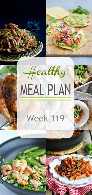 Healthy Meal Plan {Week 119}