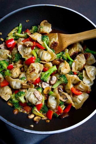 Chicken Wonton Stir Fry Recipe