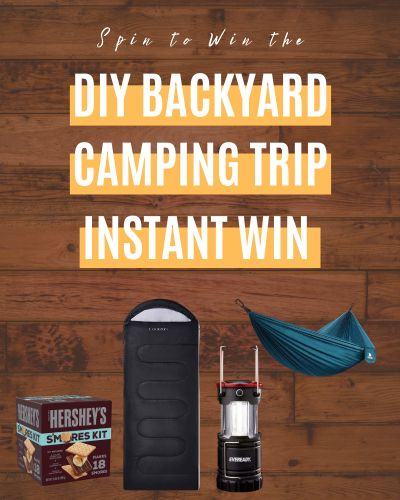DIY Backyard Camping Trip Instant Win