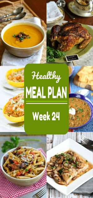 Healthy Meal Plan {Week 24}