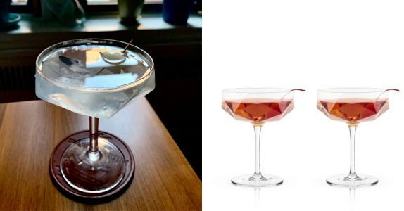 Four Picture Perfect Coupe Glasses