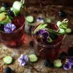 Blackberry and Cucumber Gin and Cucumbers