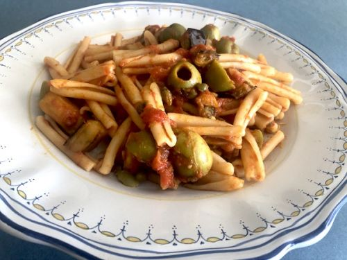 Pasta with Eggplant, Olives and Capers Recipe