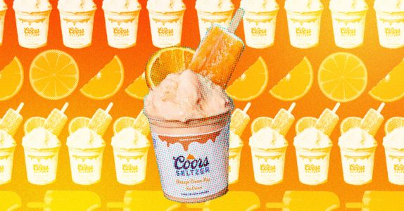 Boozy Ice Cream Infused With Orange Cream Pop Coors Seltzer Shipping Soon