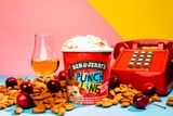 """Ben & Jerry's Punch Line Ice Cream Has """"Roasted"""" Almonds and """"Chuckles"""" of Cherry - Ba Dum Tss"""