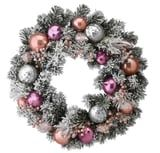 21 Pink Holiday Wreaths That'll Make Your Decorations Stand Out in the Best Way