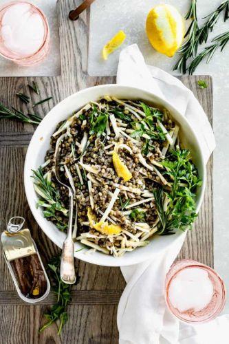 Celery Root Salad with Lentils