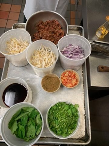 Chinese Cumin Noodles: Podcast on Mise en Place