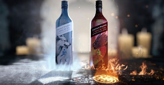 Johnnie Walker Debuts Two New 'Game of Thrones' Whiskies, 'Ice' Vs. 'Fire'