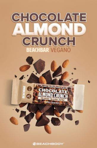 BEACHBAR a Base de Plantas de Chocolate Almond Crunch