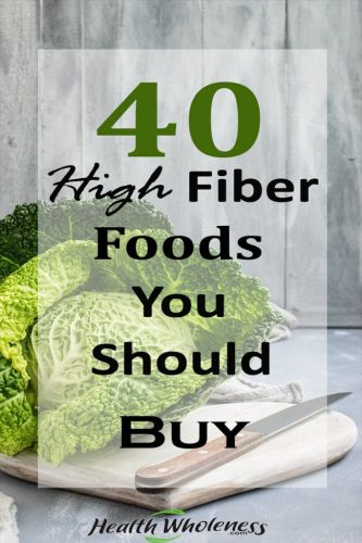 40 High Fiber Foods You Should Buy