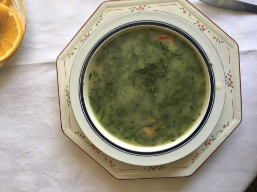 Caldo Verde (Portuguese Potato and Collard Green Soup With Chorizo)