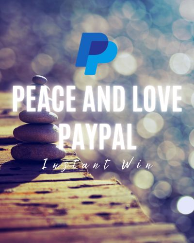 Peace and Love PayPal Instant Win Game