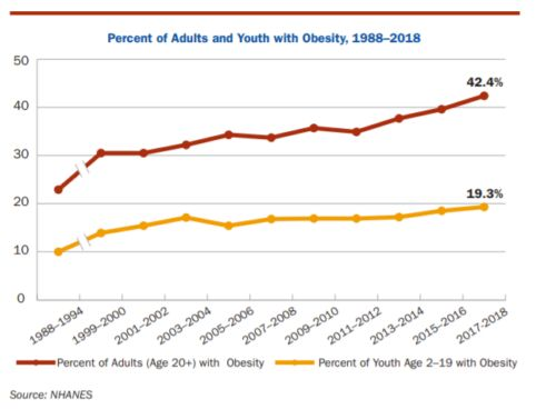 The State of Obesity, 2020: no downturn in prevalence