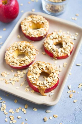 Apple and Peanut Butter Granola Snacks
