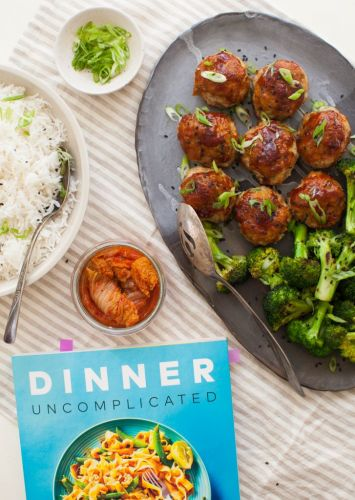 Dinner Uncomplicated: Glazed Ginger Chicken Meatballs