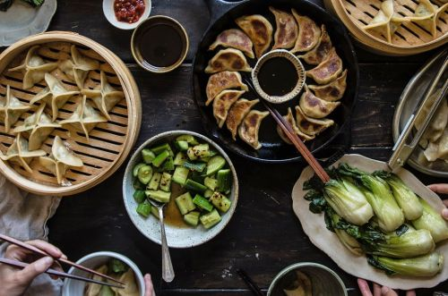 Shaping Asian dumplings: Four shapes, three flavors, all delicious