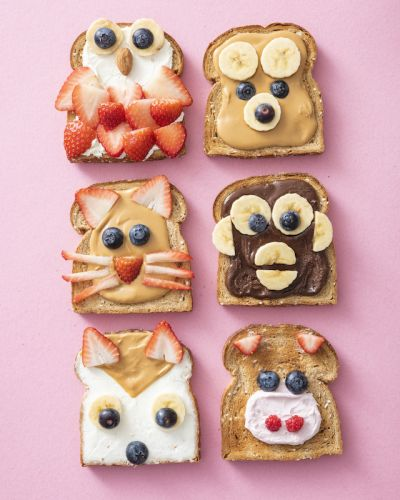 Animal Face Toast