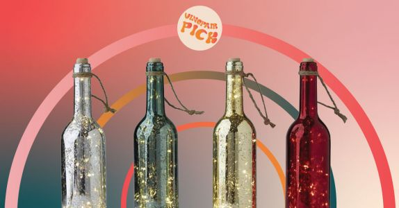 Decorate Every Event With These Glittering Wine Bottles