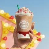 Yep, Starbucks's New Strawberry Funnel Cake Frappuccino Is Topped With Funnel Cake Pieces