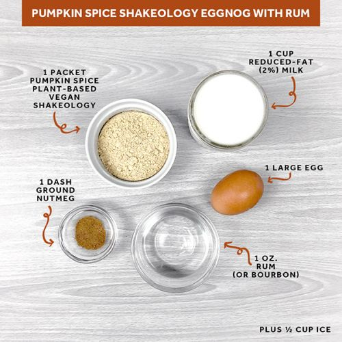 Pumpkin Spice Shakeology Eggnog With Rum