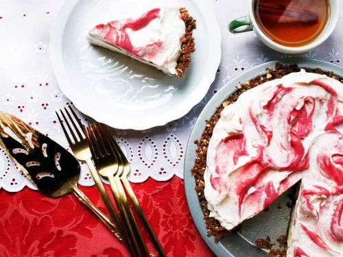 Cranberry Lime Pie with Gingersnap Crust
