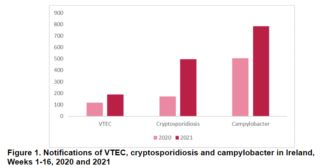 Ireland notes E. coli, crypto and Campylobacter rises